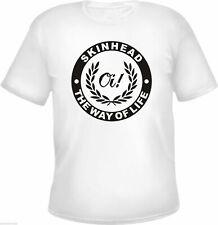 Skinhead The Way Of Life T-Shirt - WEISS - Oi / Lorbeerkranz - S bis 3XL - sos