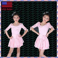 SFG19PK New Child Kid Girl Ballroom Latin Rhythm Jazz Modern Dance Dress Costume