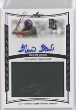 2014 Leaf Perfect Game Showcase Jersey Autographs #JA-DD1 Devin Davis Auto Card