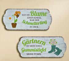 Schild Garten bunt mit Spruch 35 x 15 cm (G68227) Gartendeko Dekoschild