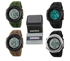SKMEI Mens Boys Sports Casual Digital 5ATM Wrist Watch with Warranty Card & Box