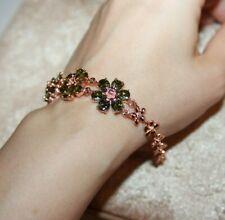 """topaz Cz bracelet rose gold filled  jewelry elegant cocktail evening design 8"""" L"""