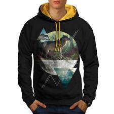 Wolf Wild Spirit Fashion Men Contrast Hoodie S-2XL NEW | Wellcoda