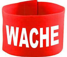 größenverstellbare Armbinde 10 cm mit Druck WACHE
