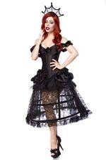 Costume sorcière gothique noir complet Reine de carnaval robe nouvelle uy 80105