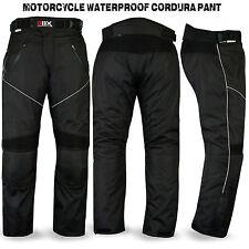 Motorcycle Motorbike Waterproof Cordura Textile Trousers Pants Armor Black