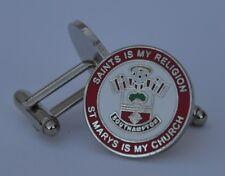 """Southampton F.C. """"saints est mon religion-st MARIES est mon Église"""" boutons de manchette émail"""