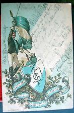 GERMANY 1898 PATRIOTIC FLAG SHEILD SWORD LEIPZIG 2-7-98