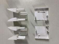 Einlauftrichter + Endkappe f.Rollladenführung 40x47mm SET – weiß braun anthrazit