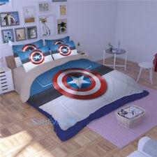Captain America Quilt/Quilt/Duvet Cover Set Single/Queen/King Bed Covers Blue