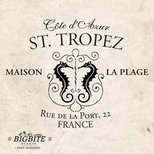 Water decal Imprimé Transfert – Vintage Français annonce: St Tropez Station de vacances #43