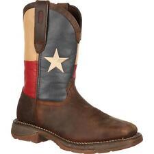 Rebel by Durango Steel Toe Texas Flag Western Boot Rebel heel Square toe