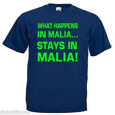 MALIA Mens T Shirt 12 Colori Taglia S - 3XL