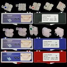 10 Dental Orthodontic Ceramic Bracket Braces Roth MBT 018 022 Slots 345 Hooks 3M