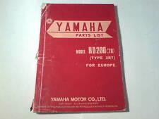 Ersatzteilliste / Spare Parts List Yamaha RD 200 / RD200 '78 Stand 12/77