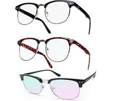 "Gafas de hombre De mujer Unisex Lente transparente clásico estilo de moda unisex 80"""