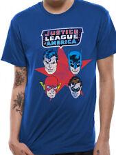 Liga De La Justicia Superman Face oficial Máscara De Batman DC Comics Camiseta de hombre azul