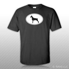 Doberman Pinscher Euro Oval T-Shirt Tee Shirt Free Sticker dog canine