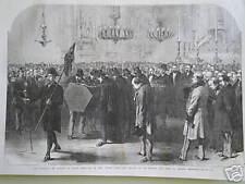 Il funerale di Rossini 1868 stampa