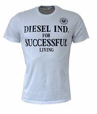 DIESEL T-DIF  Herren Men T-Shirts S,M,L,XL,XXL  Weiß, NEU SALE, Motiv, White, %%