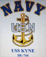 USS KYNE  DE-744* DESTROYER* U.S NAVY W/ ANCHOR* SHIRT