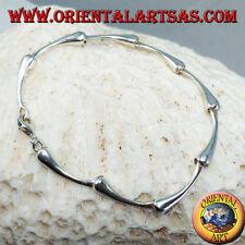 Bracciale in argento 925 ‰  semirigido a snodo