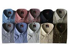 Mens Short Sleeve Big Size Summer Check Shirts 2XL - 5XL Cotton Blend