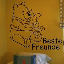 Wandtattoo Wandbild Aufkleber Kindermotive Winnie Puuh und Ferkel