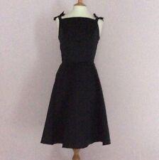 Vintage black Audrey Hepburn flare bespoke dress