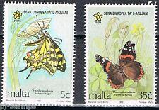 Europe Sympathy 1993 Malta 914-915 Europees jaar van de ouderen - vlinders