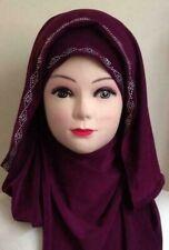 Fancy Beaded Kuwaiti Hijab Head cover scarf Islamic RRP £7.00