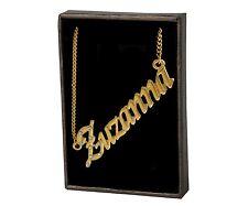 "Name Necklace ""ZUZANNA"" – 18K Gold Plated   Love Nekless Family Neckless Pendant"