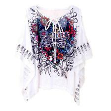 morbida maxi maglia  donna bianco  colorata scollata  misto cotone  4681
