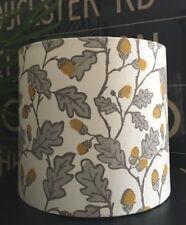 NEW HANDMADE LAMPSHADE CLARKE & CLARKE STUDIO G ACORN TRAIL GREY WHITE OAK LEAF