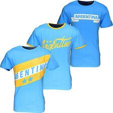 Argentine World Cup Football T Shirt été Soccer Jersey Top Blue hommes New