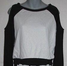 Juniors Shirt Black White Bongo Cut Shoulders S/Small M/Med L/Large XL 1X 2X 3X