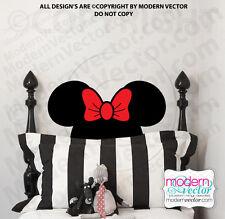 Minnie Mouse Head Vinyl Wall Decal Room Nursery Disney Headboard Sticker Design
