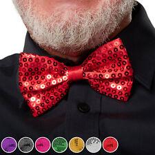 NUOVA Cravatta con paillettes e fiocco rosso