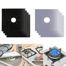 4/6PC Reusable Kitchen Gas Foil Stove Protector Burner Cover Liner Clean Mat Pad