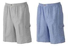 Batik Bay Mens Big & Tall Seersucker Cargo Shorts Gray or Blue Striped NEW $60