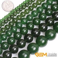 "Taiwan Green Jade Gemstone Round Beads For Jewelry Making 15"" 4mm 6mm 8mm 10mm"