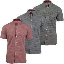 Mens Merc London 'Terry' Short Sleeved Gingham Check Shirt