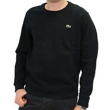 Lacoste Sweatshirt Pullover Rundhals Baumwolle Herren Schwarz