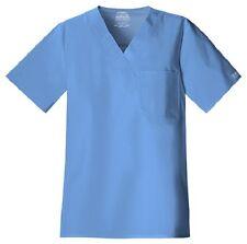 Cherokee Scrubs Workwear Men's Scrub Top 4743 Ciel Blue CIEW Cherokee Stretch