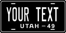 Utah 1949  License Plate Personalized Custom Auto Bike Motorcycle Moped  key tag