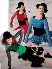 NWOT  LongSleeve Open Mesh Spandex Crop Top Dance Theatrical Costume Top