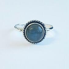 Handmade ring 925 Sterling Silver plain round Labradorite