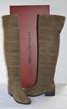 New $498 Donald J Pliner Devya-KS Khaki Kid Suede Over the Knee Riding Boots