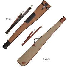 Tourbon Shotgun Case Slip Safe Carrying Gun Storage Canvas Leather 2 Versions