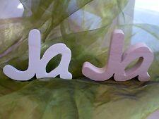 Schriftzug Ja Hochzeit Heirat Buchenholz oder Sperrholz Dekoration